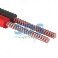 01-6105-3-10 Кабель акустический 2х1,00 мм² красно-черный (м. бухта 10 м) Rexant