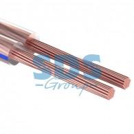 01-6202-3-10 Кабель акустический 2х0,35 мм² прозрачный BLUELINE (м. бухта 10 м) Rexant