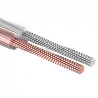 01-6304 Кабель акустический Rexant 2х0,75 мм², прозрачный SILICON, бухта 100 м
