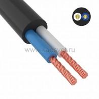 01-8037-4 Провод соединительный ПВС 2х2,5 мм² 100 м черный ГОСТ 7399-97