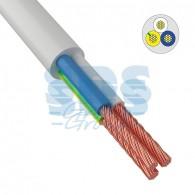 01-8046-4 Провод соединительный ПВС 3x1,5 мм² 150 м белый ГОСТ 7399-97