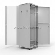 """04-2307 19"""" Напольный шкаф Rexant серии Standart 42U 600х1000 мм, передняя дверь стекло, задняя дверь металл, RAL 7035"""