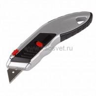 12-4953 Нож с трапециевидным лезвием Профи, мгновенно заменяемое лезвие Rexant