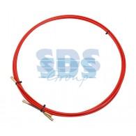 47-1003 Протяжка кабельная Rexant (мини УЗК в бухте), стеклопруток, d=3,5 мм, 3 м, красная