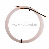47-1005-1 Протяжка кабельная Rexant (мини УЗК в бухте), 5 м нейлон, d=3 мм, латунный наконечник, заглушка