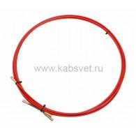 47-1005 Протяжка кабельная Rexant (мини УЗК в бухте), стеклопруток, d=3,5 мм 5 м, красная