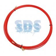 47-1007 Протяжка кабельная (мини УЗК в бухте), стеклопруток, d=3,5 мм, 7 м красная