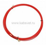 47-1010 Протяжка кабельная Rexant (мини УЗК в бухте), стеклопруток, d=3,5 мм 10 м, красная