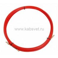47-1015 Протяжка кабельная Rexant (мини УЗК в бухте), стеклопруток, d=3,5 мм 15 м, красная