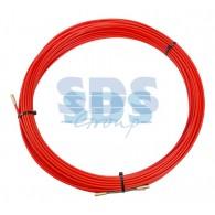 47-1025 Протяжка кабельная Rexant (мини УЗК в бухте), стеклопруток, d=3,5 мм, 25 м, красная