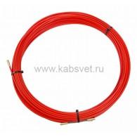 47-1030 Протяжка кабельная Rexant (мини УЗК в бухте), стеклопруток, d=3,5 мм 30 м, красная