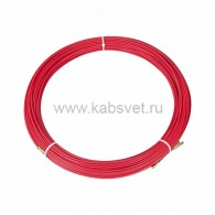 47-1050 Протяжка кабельная Rexant (мини УЗК в бухте), стеклопруток, d=3,5 мм 50 м, красная