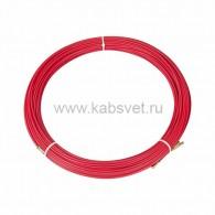 47-1070 Протяжка кабельная Rexant (мини УЗК в бухте), стеклопруток, d=3,5 мм 70 м, красная