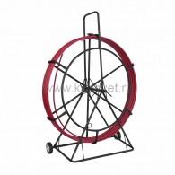 47-1150 Протяжка кабельная (УЗК в тележке), стеклопруток d=11,0 мм, 50 м красная