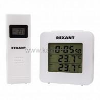 70-0592 Электронный термометр с часами и беспроводным выносным датчиком