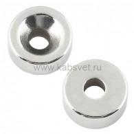 72-3603 Неодимовый магнитный диск 20х5 мм с зенковкой 10х4,5 мм (упаковка 2 шт.)