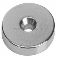 72-3604 Неодимовый магнитный диск 30х5 мм с зенковкой 10х5,5 мм (упаковка 1 шт.)