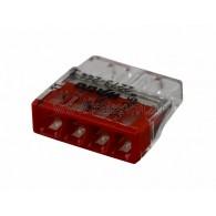 07-5143 2273-244 Экcпресс-клемма с пастой, 4-проводная до 2,5 мм², (100 шт./уп.) WAGO