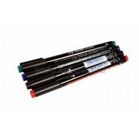 09-3995-9 Набор маркеров E-140 permanent 0.3 мм (для пленок и ПВХ) набор: черный, красный, зеленый, синий