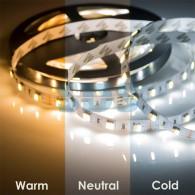141-244 LED лента White Mix, 12 В, 12 мм, IP65, SMD 5050, 60 LED/m, цвет свечения белый (6000 К) + цвет свечения теплый белый (3000 К)