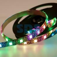 141-387 LED лента с USB коннектором 5 В, 10 мм, IP65, SMD 5050, 60 LED/m, цвет свечения RGB