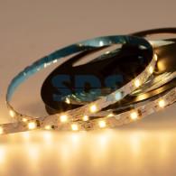 141-528 LED лента 12 В, 6 мм, S-образная плата, IP65 (напыление силикона), SMD 2835, 60 LED/m, цвет свечения теплый белый (3000 К)