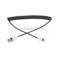 18-4300 USB кабель универсальный microUSB шнур витой 1,5 м черный Rexant