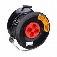 11-7605 Удлинитель силовой на катушке 4 гнезда с/з 30 м 3х1 мм² STANDART PROconnect