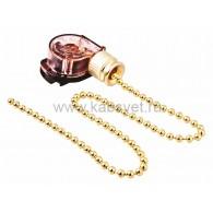 32-0102 Выключатель для настенного светильника с цепочкой 270 мм «Gold» Rexant