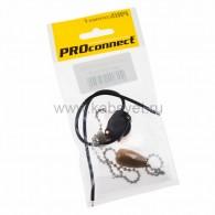 32-0103-9 Выключатель для настенного светильника c проводом и деревянным наконечником «Silver» индивидуальная упаковка 1 шт. PROconnect