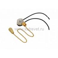 32-0104 Выключатель для настенного светильника c проводом и деревянным наконечником «Gold» Rexant