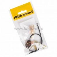 32-0104-9 Выключатель для настенного светильника c проводом и деревянным наконечником «Gold» индивидуальная упаковка 1 шт. PROconnect
