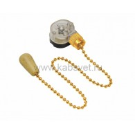 32-0106 Выключатель для настенного светильника c деревянным наконечником «Gold» Rexant