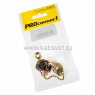 32-0106-9 Выключатель для настенного светильника c деревянным наконечником «Gold» индивидуальная упаковка 1 шт. PROconnect