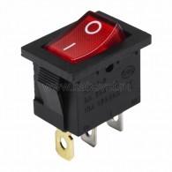 36-2165 Выключатель клавишный 24V 15А (3с) ON-OFF красный с подсветкой Mini Rexant