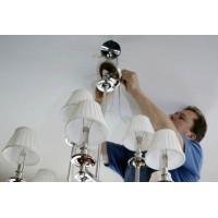 Подключение люстры и светильников