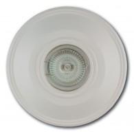 Гипсовый светильник SvDecor SV 7036 белый ф130 мм