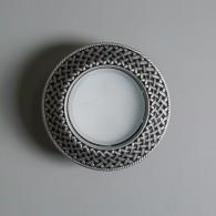 Гипсовый светильник SvDecor SV 7625 серебро ф130 мм GX53