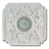 Гипсовый светильник SvDecor SV 7039 белый ф150 мм
