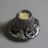 Гипсовый светильник SvDecor SV 7159 ASL серебро ф140 мм