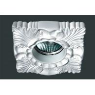 Гипсовый светильник SvDecor SV 7013 белый 110*110 мм