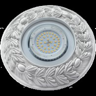 Накладной гипсовый светильник SV 7601 GX53 ф190 мм белый
