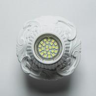 Гипсовый светильник SvDecor SV 7141 белый ф140 мм