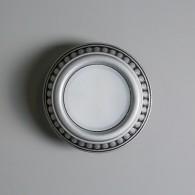 Гипсовый светильник SvDecor SV 7623 серебро ф130 мм GX53
