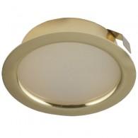 Мебельный светодиодный светильник Светкомплект CK50M-4 220V 4W 330Lm 4000K золото ф72мм