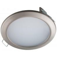 Встраиваемый светодиодный светильник Светкомплект CK80-6 SN 6W 4000K сатин-никель ф108мм 550Lm
